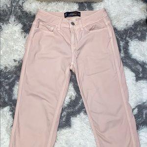 Pink Hollister boyfriend jeans